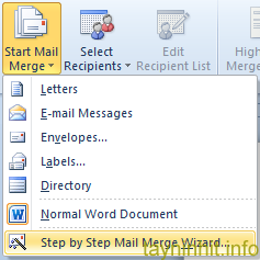 Mail Merge trong Word